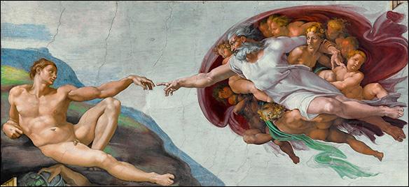 Adams födelse, Michelangelo