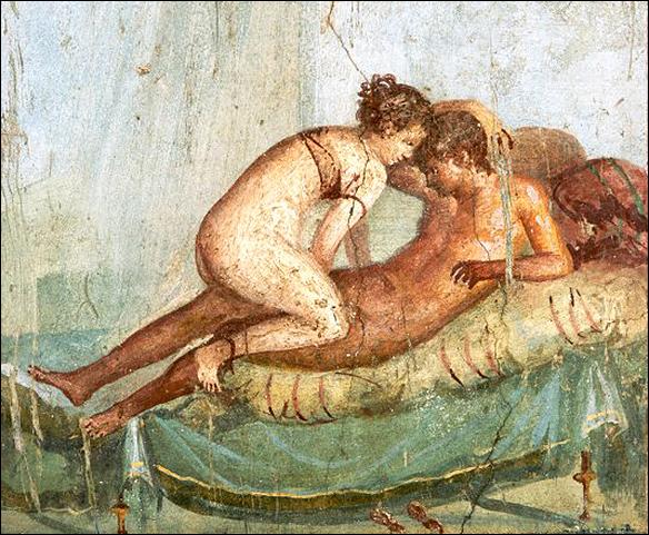 Älskande par i Pompeji