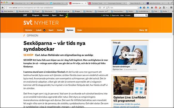 SVT Opinion 2014 om sexköp
