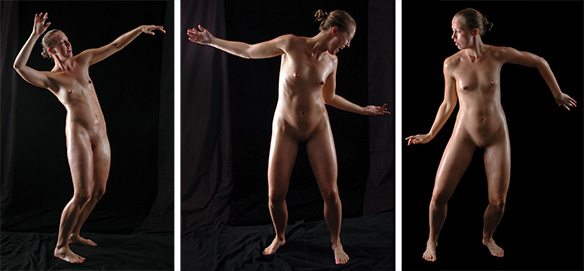 Tre dansande