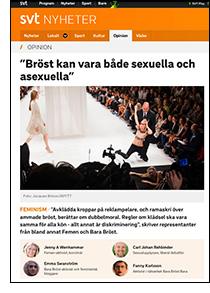 Om bröst i SvT Nyheter