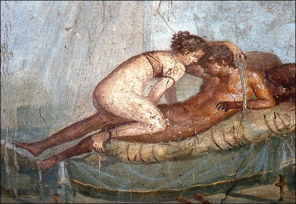 Erotisk fresk från Pompeii