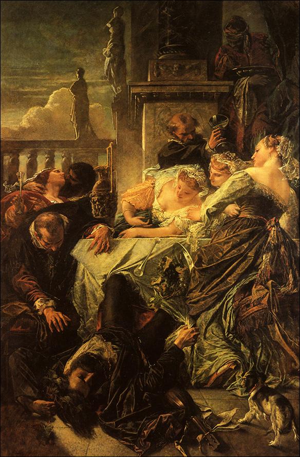 Pietro Aretinos död, av Feuerbach