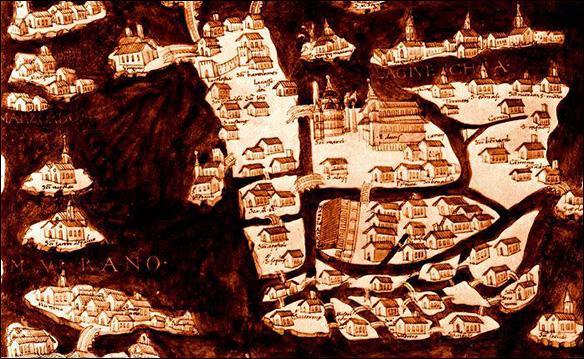 Venedig - karta från 1500-talet
