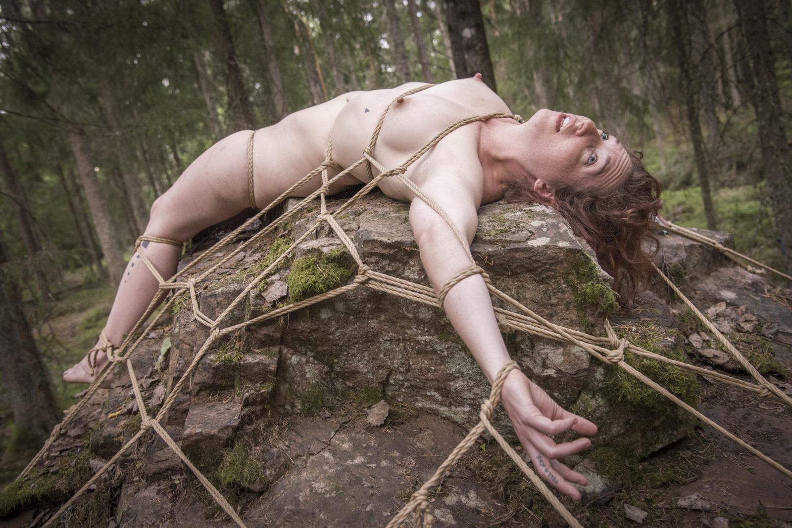 видео связанных в лесу тоже
