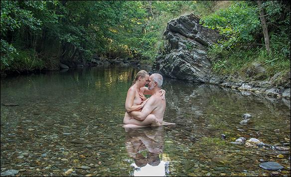 Älskog i floden Gardon